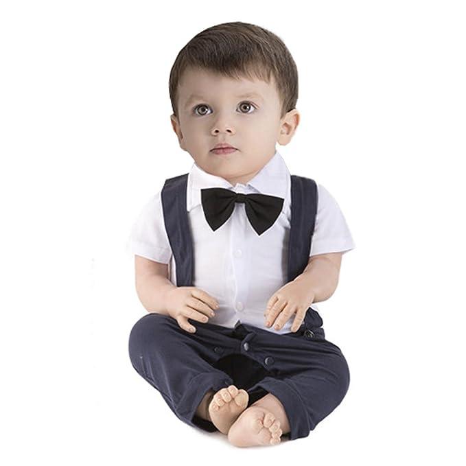 ARAUS Mono Pelele Niños Conjunto de Una Pieza Bautismo para Bebé Verano  Boda Banquete Noche d3b5d52f97ac