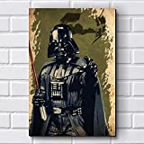Placa Decorativa em MDF com 20x30cm - Modelo P400 - Star Wars