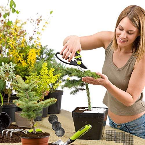 Ensemble d'outils Bonsai de DesignerBox, ligne de câble de formation de bonsaï de 30M en aluminium, 3 tailles et 20 pièces de trou de pot de fleur Pad pour maille en plein air
