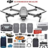 DJI Mavic 2 PRO Drone Quadcopter Fly More Combo with 3 Batteries, 128GB SD Card with Hasselblad Camera HDR Video UAV Adjustable Aperture Bundle Kit with Must Have Accessories