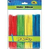 Mini Wood Craft Sticks; 2-9/16'' Length; Natural Color - 500 per pack; no. CK-389401