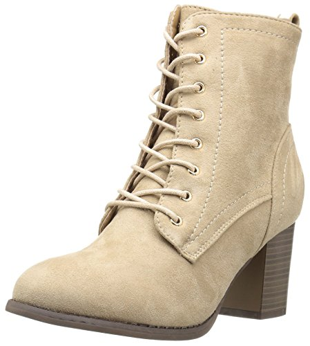 Brinley Co Womens Birdie Combat Boot Taupe V5s5B1kS6