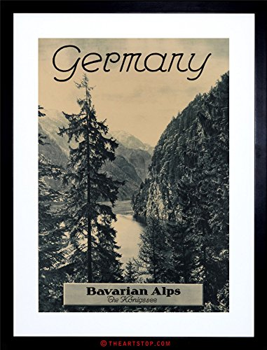 (Travel AD Vintage Germany Bavarian ALPS Photo Framed Print F12X7688)