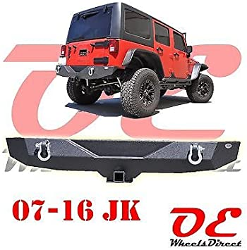 SmittyBilt Black Tubular Rear Bumper W//O Hitch Fits 07-17 Jeep Wrangler JK 2D//4D