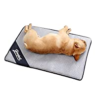 """Aolvo Cooling Pad/Mat/Bed for Dogs & Cats, Extra Large - Non Toxic, Non Sticking, Skin-Friendly, Keep Pets Cool, Prevent Overheating & Dehydration - Comfortable Cool Stuff for Pet (27.5"""" X 20"""")"""