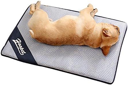 Pawaca Alfombrilla de refrigeración para perro, cómoda y transpirable, gruesa, de ratán de refrigeración, no tóxica, antideslizante, para perros y gatos
