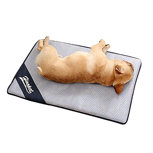 Aolvo Cooling Pad/Mat/Bed for Dogs & Cats, Extra Large - Non Toxic, Non Sticking, Skin-Friendly, Keep Pets Cool, Prevent Overheating & Dehydration - Comfortable Cool Stuff for Pet (27.5'' X 20'') by Aolvo