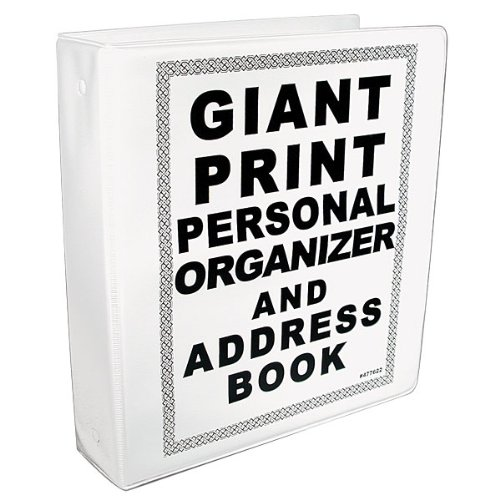 REIZEN Giant Print Personal Organizer and Address Book