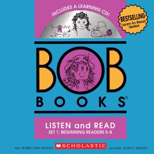 BOB Books Set 1 Bind-up: Books #5-8 + CD