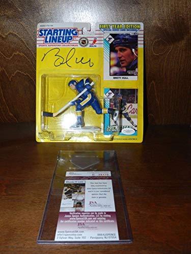 Brett Hull Autographed Signed 1993 Starting Lineup Figure; Jsa Coa