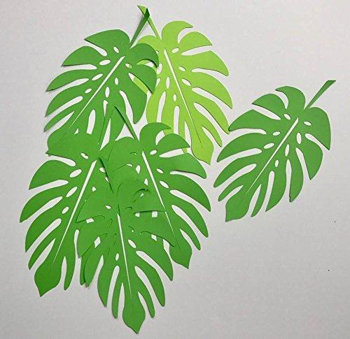 palm leaf Paper leaves tropical leaves leaves cut outs Pack of 5 leaves green leaves palm leaves