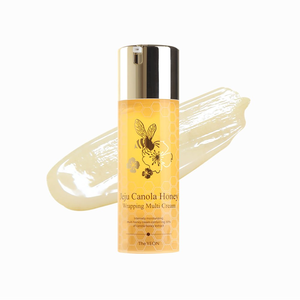 Korean Skin Care - The YEON Jeju Canola Honey Wrapping Multi Cream (100 ml/Net wt. 3.38 oz) - Intensely moisturizing