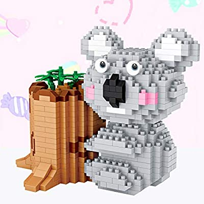 LOZ Koala Building Blocks Pencil Holder NO.9212 Compatible Nano Chistmas Bithday Gifts for Kids DIY Figures Assemble Educational Toys Model Kits: Toys & Games