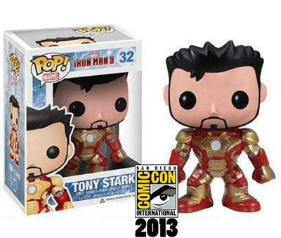 SDCC 2013 FUNKO POP IRON MAN 3 Mark 32 Unmasked Tony Stark Figure