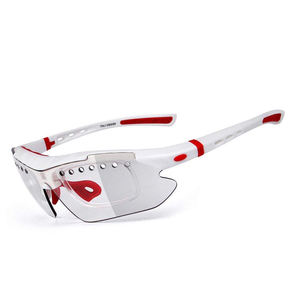 LLTS Polarisationsbrillen mit farbwechselnder Nachtsichtbrille für den Radsport tragen eine leuchtende Brille