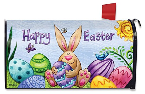 Briarwood Lane Happy Easter Bunny Magnetic Mailbox Cover Eggs Holiday Standard by Briarwood Lane