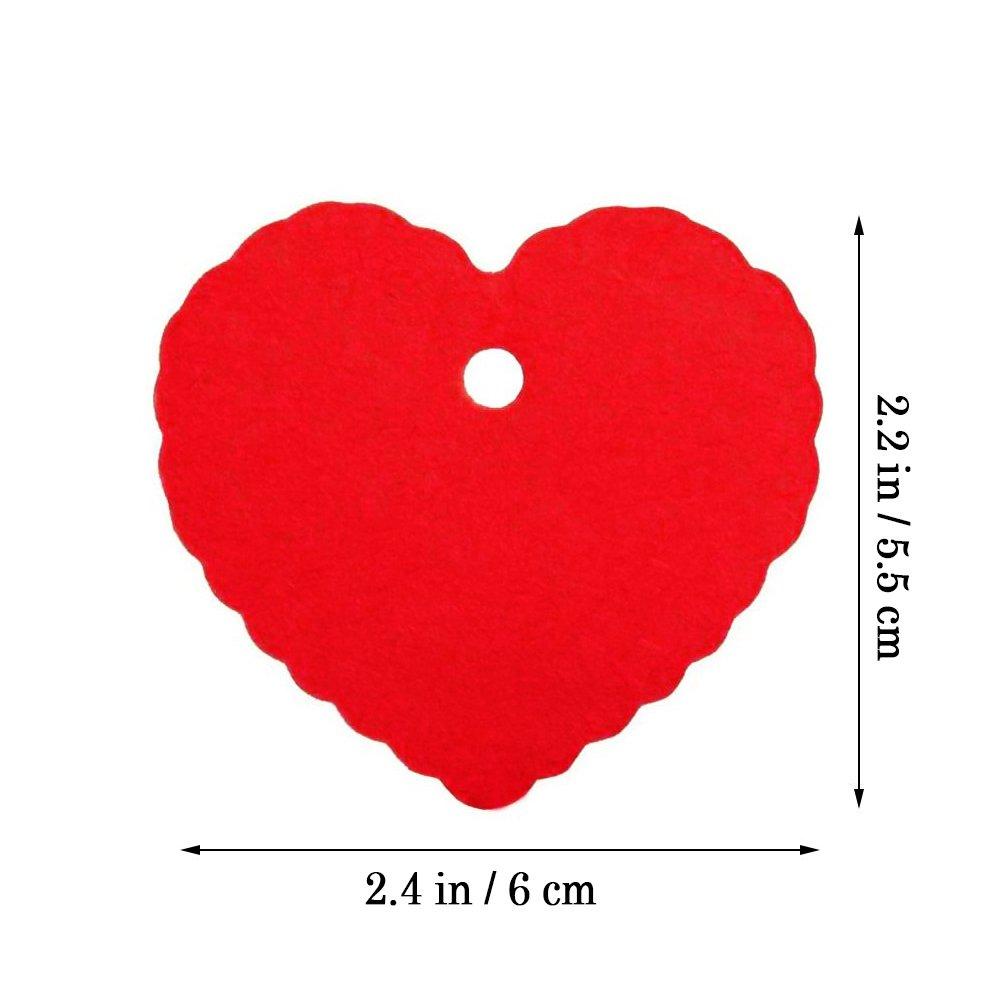 color marr/ón,//200pc CRIVERS Peach Forma de Coraz/ón Papel Kraft Etiquetas de papel con libre Natural Yute Twine para Navidad boda cumplea/ños partido
