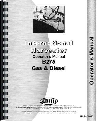 International Harvester B-275 Tractor Operators Manual for sale  Delivered anywhere in USA