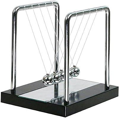 Pendule De Newton Socle En Bois Avec Miroir Pendule