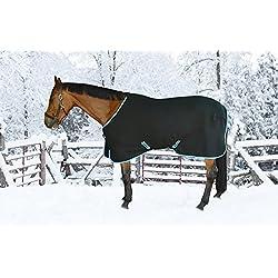 TuffRider Cooler Sheet Black - Anti-Pilling Fleece, Single Front Clozease Closure, Low Cross Surcingles - 75