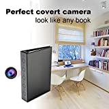 Conbrov  DV9 720P Portable Hidden Spy Camera Book Nanny Cam Motion Activated Detection Night Vision Video Recorder Covert DVR for Home Security with Built-in 10,000mAh Battery ,2 Years Long Standby