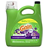 Gain Aroma Boost Liquid Laundry Detergent With Febreze Freshness, Moonlight Breeze, 96 Loads 4.43 Liter