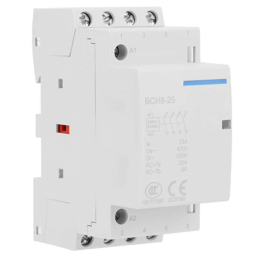 Household AC Contactor 4P 25A 24V//230V 50//60Hz DIN Rail Mount 4NO Household AC Contactor 2#