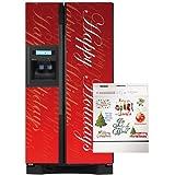 Appliance Art 11155-delete Appliance Art Happy Holidays Script Combo Refrigerator- Dishwasher Cover