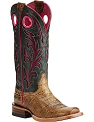 Ariat Womens Chute Out Work Boot, Chocolate Hippo Print, 10 B US