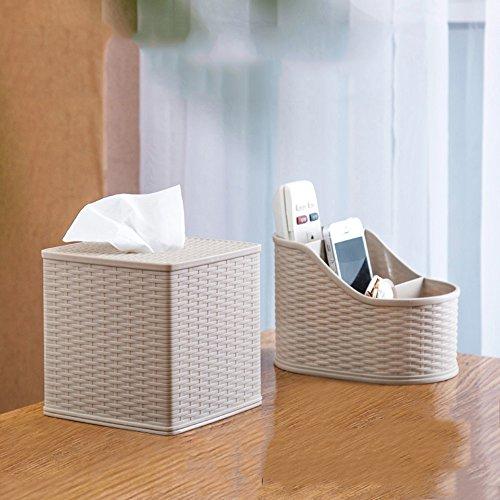 Tissue Box Desktop Plastic Paper Draw Box Multi - Functional