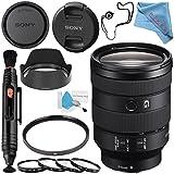 Sony FE 24-105mm f/4 G OSS Lens SEL24105G + 77mm UV Filter + 77mm Macro Close Up Kit + Lens Pen Cleaner + Fibercloth + Lens Capkeeper + Deluxe Cleaning Kit Bundle