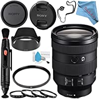Sony FE 24-105mm f/4 G OSS Lens SEL24105G + 77mm UV Filter + 77mm Macro Close Up Kit + Lens Pen Cleaner + Fibercloth + Lens Capkeeper + Deluxe Cleaning Kit Bundle
