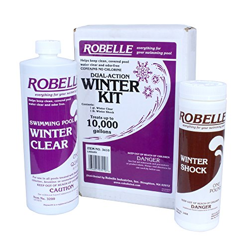 Winter Pool Chemical - Robelle 3410 Dual-Action Winter Kit for Swimming Pools, 10000-Gallon