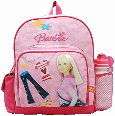 Barbie Small Backpack with Water Bottle - Pink Clothes & Jeans