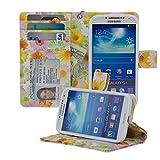 Navor Samsung Galaxy S4 Folio Wallet Leather Case for Cards & Money Pockets, ID Window (Sunflower)