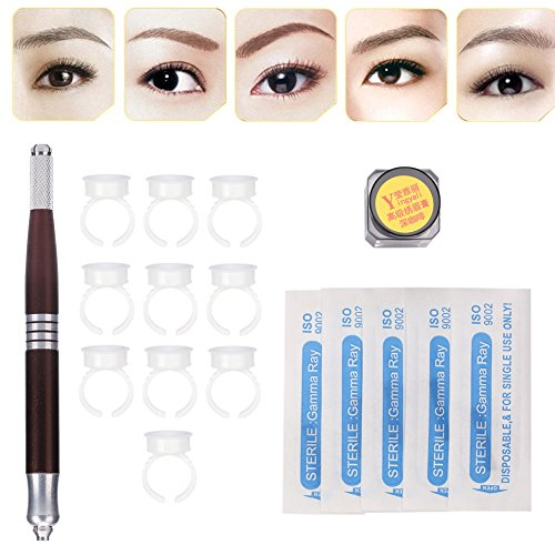 Microblading Permanent Kit, 3D Eyebrow Tattoo Manual Make...