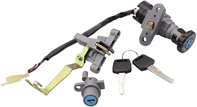 GOOFIT Ignition Switch Key Assy for Jonway YY50QT-5 Znen Peace GY6 49cc 50cc Scooter Moped