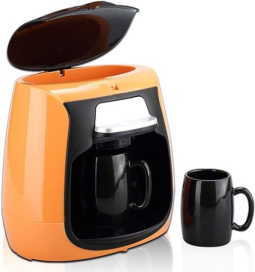 Y&J Mayordomo De Café Personal Bajo Demanda con Pie Antideslizante | Filtro Reutilizable | Cafetera Máquina Eléctrica 2 Tazas con Tazas Incluidas Yellow: Amazon.es: Hogar