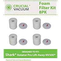 Replacement for Shark NV500 4 Foam & 4 Felt Filters Fit Rotator Pro NV500, Compatible With Part # XFF500, by Think Crucial