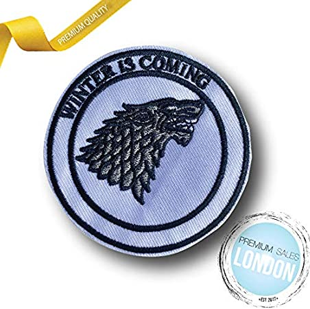 Wolf Game of Thrones Houses Collection Iron on Sew on Embroidered Patches