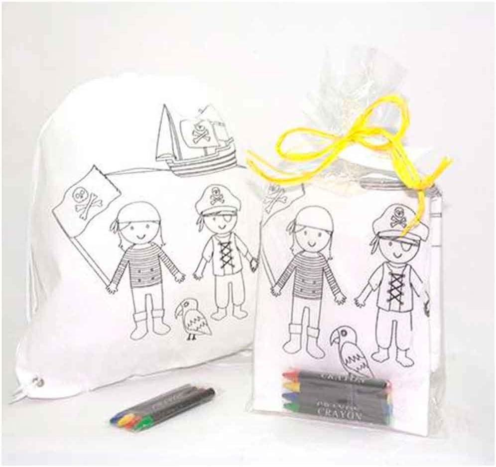 Cadeaux pour les anniversaires et les f/êtes denfants D/étails pour enfants invit/és Lot de 10 unit/és Sac /à dos pour enfant avec 4 cires /à colorier