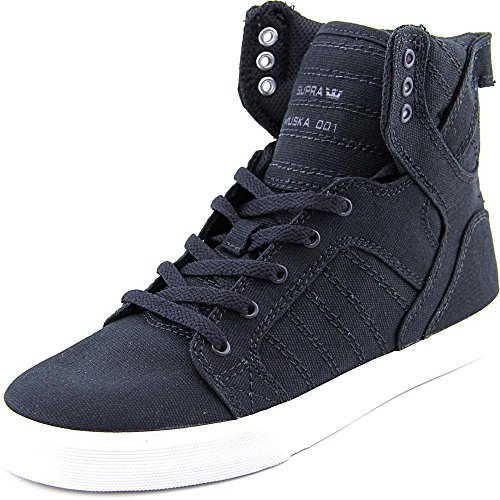 Supra Kids Boy's Skytop (Little Kid/Big Kid) Black Canvas 4 Big Kid M (Supra High Tops Kids)