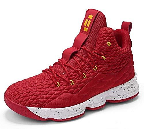 970dffcec8ffae Galleon - JIYE Women's Men's Fashion Basketball Shoes Wear Resistant Flyknit  Sneakers,Red,38EU=6.5US-Men/7US-Women