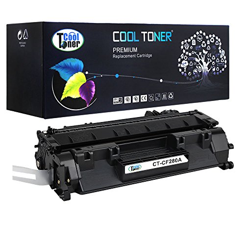 Cool Toner 1 Pack 2,700 Pages Compatible HP 80A CF280A Toner Cartridge Replacement Used For HP LaserJet Pro 400 M401a M401d M401n M401dn M401dne MFP M425dn M425dw P2030 P2035P2050 P2055d P2055dn (Laserjet Printer Cartridge 80a)