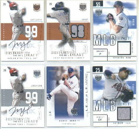 2004 Skybox LE Sky's the Limit Jersey Silver #BW Brandon Webb Jersey Card Serial #'d/50