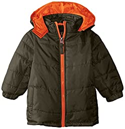 iXtreme Baby Boys\' Ripstop Puffer Pop Color Zipper, Forest, 12 Months