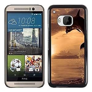 Caucho caso de Shell duro de la cubierta de accesorios de protección BY RAYDREAMMM - HTC One M9 - Dolpin Wave