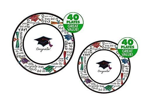 Graduation Party Supplies Bundle: 80-Piece You Did It Design (Serves 40 People) by Party Impressions