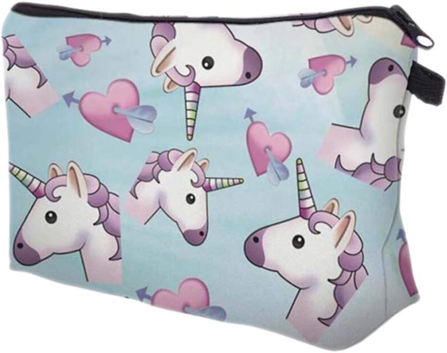 Kanggest.Unicornio Bolsa de cosméticos para Mujer Estuche de ...