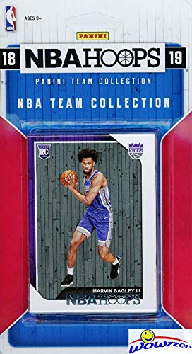 Sacramento Kings 2018/2019 Panini Hoops NBA Basketball EXCLUSIVE Factory Sealed Limited Edition 9 Card Team Set with Buddy Hield, Willie Cauley-Stein, Zach Randolph, Marvin Bagley RC & More! WOWZZER!